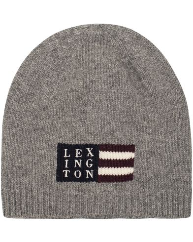Lexington Westbrook Beanie Light Warm Grey Melange  i gruppen Assesoarer / Luer hos Care of Carl (13157510)