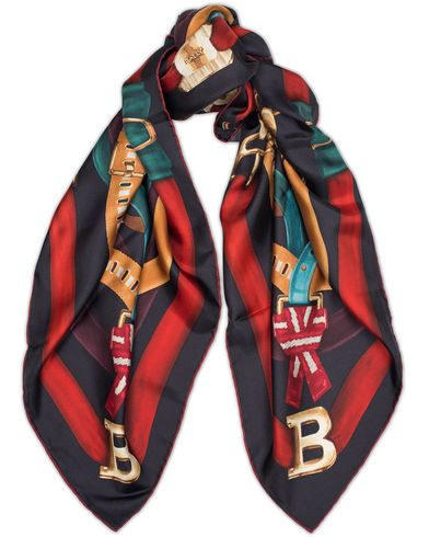 Bally Buckle Print Lady Silk Scarf Multi Ink  i gruppen Assesoarer hos Care of Carl (13158010)