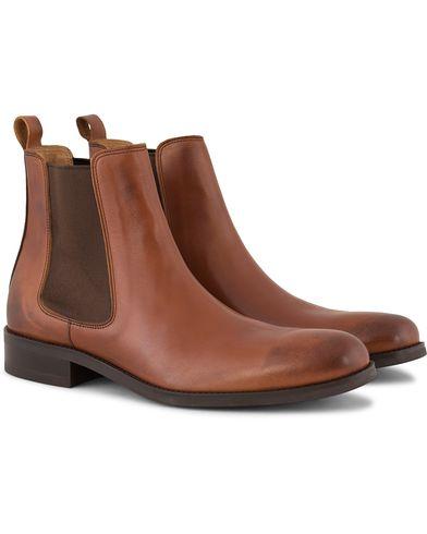 Morris Chelsea Leather Boots Cognac i gruppen Sko / Støvler / Chelsea boots hos Care of Carl (13158711r)