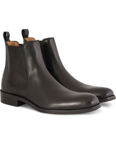 Morris Chelsea Leather Boots Black i gruppen Sko / Støvler / Chelsea boots hos Care of Carl (13158811r)