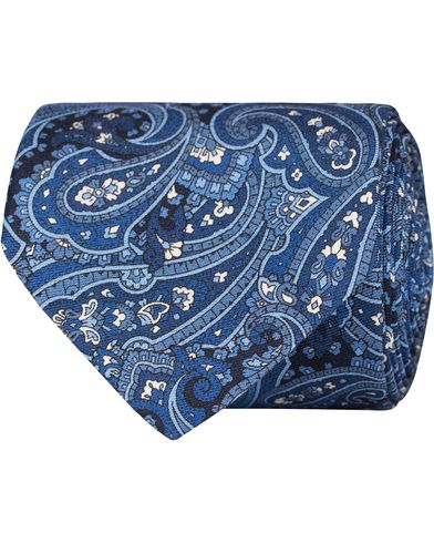 Tiger of Sweden Parasti 7 cm Silk Tie Blue Pasiley  i gruppen Accessoarer / Slipsar hos Care of Carl (13160710)