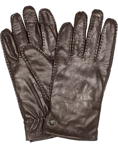 Tiger of Sweden Andalust Leather Gloves Brown  i gruppen Sesongens nøkkelplagg / Hanskene til spaserturen hos Care of Carl (13161811r)
