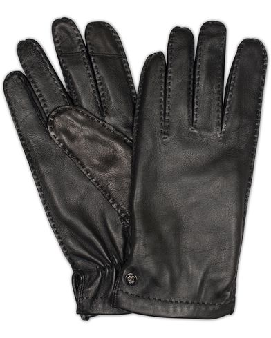 Tiger of Sweden Andalust Leather Gloves Black i gruppen Sesongens nøkkelplagg / Hanskene til spaserturen hos Care of Carl (13161911r)