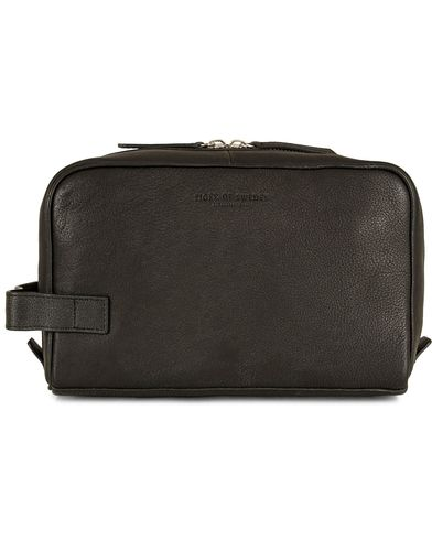 Tiger of Sweden Tigino Leather Washbag Washed Black  i gruppen Vesker / Toalettmapper hos Care of Carl (13162210)