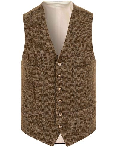 Polo Ralph Lauren Clothing Herringbone Waistcoat Brown/Olive i gruppen Dressjakker / Vester hos Care of Carl (13167111r)