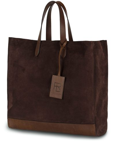 Ralph Lauren Purple Label Easy Tote Espresso Suede  i gruppen Väskor / Totebags hos Care of Carl (13168510)