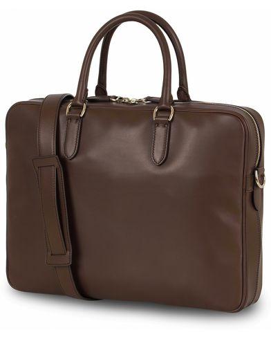 Ralph Lauren Purple Label Attache Bag Double Handle Dark Brown Saddle Calf  i gruppen Vesker / Dokumentvesker hos Care of Carl (13168710)