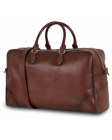 Ralph Lauren Purple Label Weekender Duffle Brown Vintage Vacchetta  i gruppen Väskor / Weekendbags hos Care of Carl (13168810)
