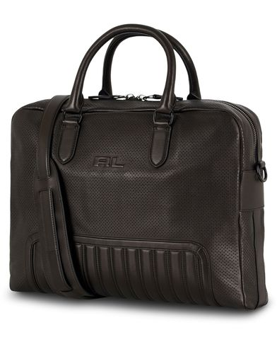 Ralph Lauren Purple Label Whale Briefcase Quilted Detail Black Calf  i gruppen Vesker / Dokumentvesker hos Care of Carl (13169110)