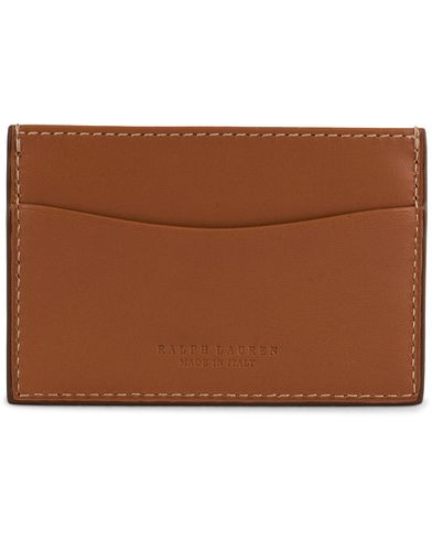 Ralph Lauren Card Case RL Gold Saddle Calf  i gruppen Assesoarer / Lommebøker / Kortholdere hos Care of Carl (13170110)