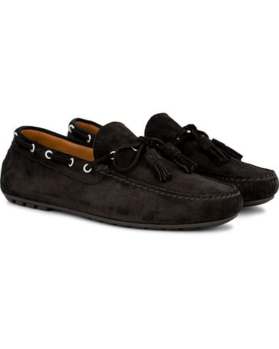 Ralph Lauren Purple Label Harold Tassel Carshoe Black Suede i gruppen Sko / Bilsko hos Care of Carl (13170811r)