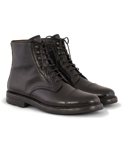Ralph Lauren Macomb Boot Country Grain Black i gruppen Sko / Støvler / Snørestøvler hos Care of Carl (13171011r)