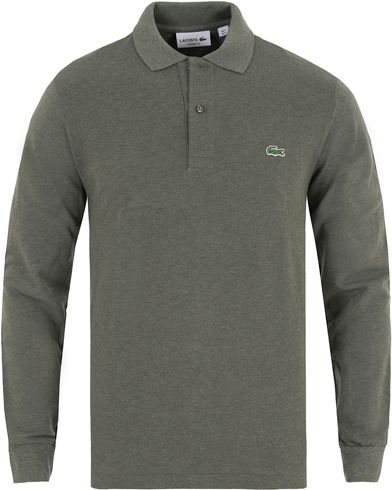Lacoste Long Sleeve Original Polo Khaki Chine  i gruppen Pikéer / Långärmade pikéer hos Care of Carl (13172211r)