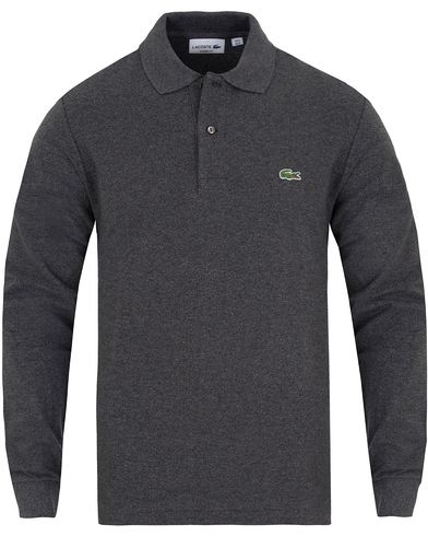 Lacoste Long Sleeve Original Polo Dark Grey Jaspe i gruppen Pik�er / L�ng�rmad Pik� hos Care of Carl (13172311r)