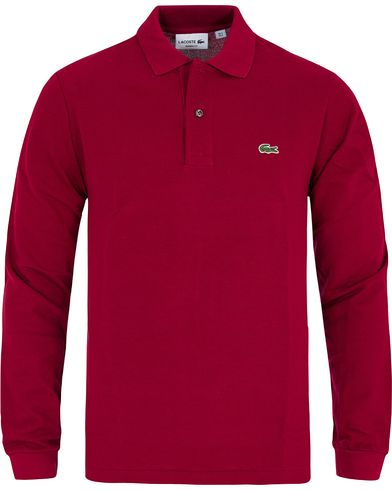 Lacoste Long Sleeve Original Polo Bordeuax Red i gruppen Kläder / Pikéer / Långärmade pikéer hos Care of Carl (13172411r)