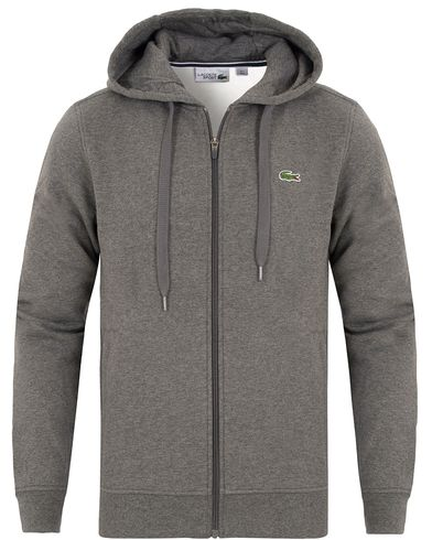 Lacoste Zip Hooded Sweatshirt Pitch Grey i gruppen Tröjor / Huvtröjor hos Care of Carl (13172711r)