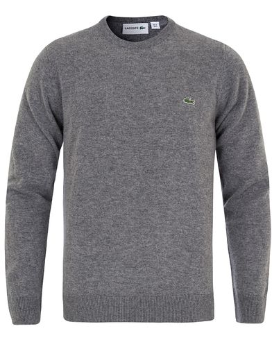 Lacoste Lambswool Pullover C-Neck Stone Chine i gruppen Gensere / Pullover / Pullovere rund hals hos Care of Carl (13173511r)