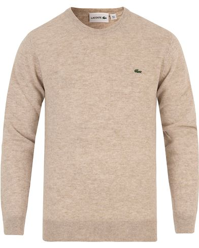 Lacoste Lambswool Pullover C-Neck Oats Chine i gruppen Klær / Gensere / Pullover / Pullovere rund hals hos Care of Carl (13173611r)