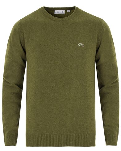 Lacoste Lambswool Pullover C-Neck Greenery Green i gruppen Tröjor / Pullovers / Rundhalsade pullovers hos Care of Carl (13173711r)