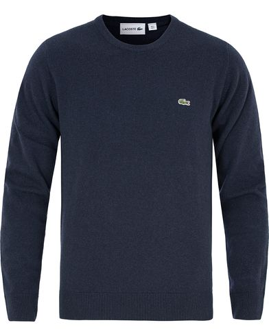 Lacoste Lambswool Pullover C-Neck Navy Blue i gruppen Design A / Gensere / Pullover / Pullovere rund hals hos Care of Carl (13173911r)