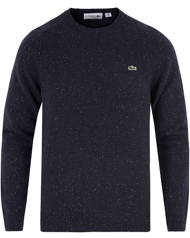 Lacoste Lambswool Pullover Donegal C-Neck Cosmos/White i gruppen Tröjor / Pullovers / Rundhalsade pullovers hos Care of Carl (13174011r)