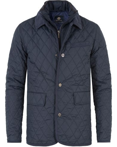 Henri Lloyd Gelyn Long Quilted Jacket Navy i gruppen Jakker / Quiltede jakker hos Care of Carl (13175211r)
