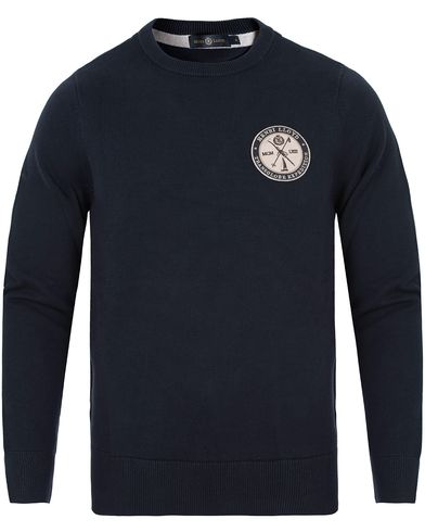 Henri Lloyd Saighton Regular Crew Neck Knit Navy i gruppen Gensere / Strikkede gensere hos Care of Carl (13175311r)