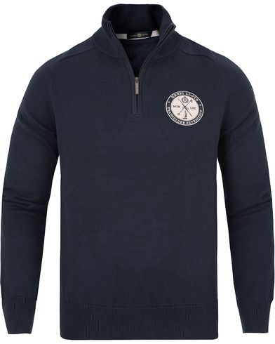 Henri Lloyd Saighton Half Zip Knit Navy i gruppen Gensere / Zip-gensere hos Care of Carl (13175611r)
