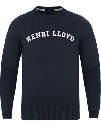 Henri Lloyd Gell Regular Crew Neck Knit Navy i gruppen Gensere / Strikkede gensere hos Care of Carl (13175711r)
