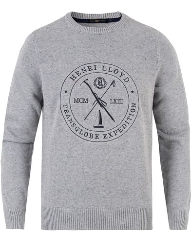 Henri Lloyd Mains Donegal Regular Crew Neck Knit Grey Marl i gruppen Klær / Gensere / Strikkede gensere hos Care of Carl (13176111r)