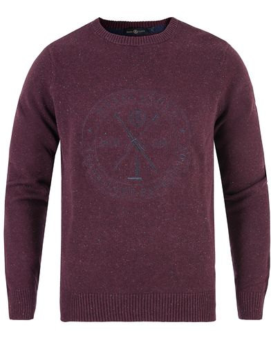 Henri Lloyd Mains Donegal Regular Crew Neck Knit Port i gruppen Gensere / Strikkede gensere hos Care of Carl (13176211r)