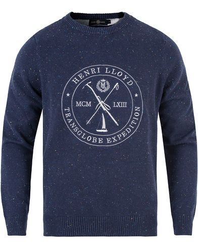 Henri Lloyd Mains Donegal Regular Crew Neck Knit Navy i gruppen Tröjor / Stickade tröjor hos Care of Carl (13176311r)