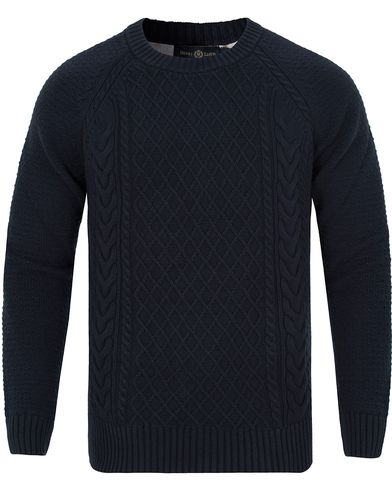 Henri Lloyd Kents Regular Crew Neck Knit Navy i gruppen Klær / Gensere / Strikkede gensere hos Care of Carl (13176511r)