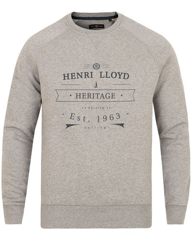Henri Lloyd Kemsing Crew Sweat Grey Marl i gruppen Klær / Gensere / Sweatshirts hos Care of Carl (13177311r)