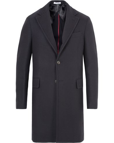 Boglioli Cappotto Wool Coat Navy i gruppen Jackor / Vinterjackor hos Care of Carl (13178311r)
