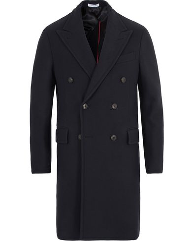 Boglioli Cappotto Double Breasted Wool Coat Navy i gruppen Jackor / Vinterjackor hos Care of Carl (13178511r)