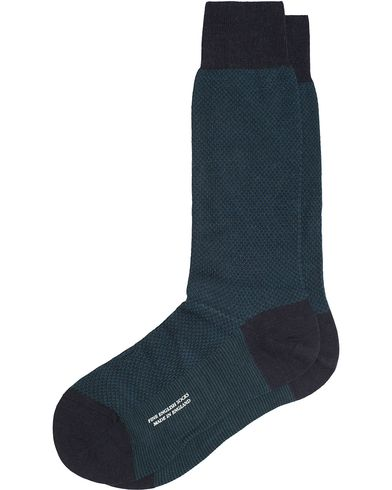 Pantherella Blenheim Wool/Nylon Structured Sock Navy i gruppen Kläder / Underkläder / Strumpor / Vanliga strumpor hos Care of Carl (13179411r)