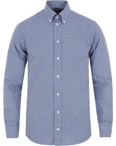 Eton Slim Fit Button Down Check Shirt Blue i gruppen Kläder / Skjortor / Casual skjortor hos Care of Carl (13180211r)