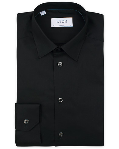 Eton Super Slim Fit Stretch Shirt Black i gruppen Tøj / Skjorter / Formelle skjorter hos Care of Carl (13180411r)