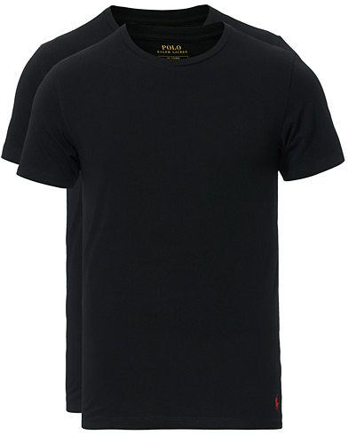 Polo Ralph Lauren 2-Pack Cotton Stretch Polo Black i gruppen Klær / T-Shirts hos Care of Carl (13181111r)