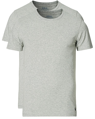 Polo Ralph Lauren 2-Pack Cotton Stretch Andover Heather Grey i gruppen T-Shirts / Kortermede t-shirts hos Care of Carl (13181411r)