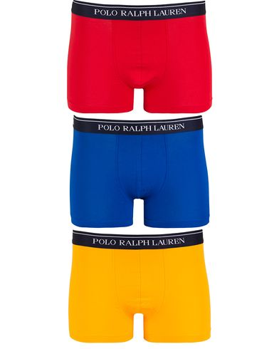 Polo Ralph Lauren 3-Pack Boxer Brief Yellow/Royal/Red i gruppen Undertøy / Underbukser hos Care of Carl (13182011r)