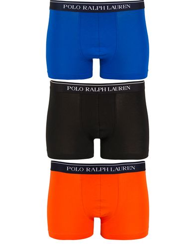 Polo Ralph Lauren 3-Pack Boxer Brief Orange/Black/Royal i gruppen Undertøy / Underbukser hos Care of Carl (13182111r)