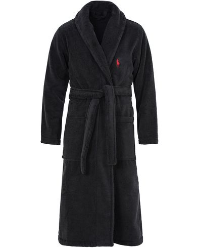 Polo Ralph Lauren Shawl Collar Robe Polo Black i gruppen Undertøy / Morgenkåper hos Care of Carl (13183111r)