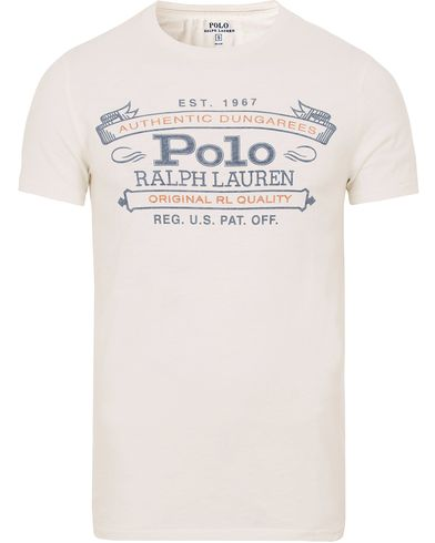 Polo Ralph Lauren Printed Tee Nevis White i gruppen T-Shirts / Kortärmade t-shirts hos Care of Carl (13183711r)
