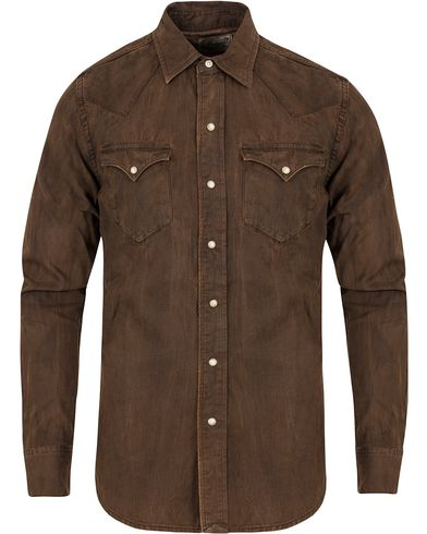 Polo Ralph Lauren Western Denim Shirt Stillwell Brown i gruppen Klær / Skjorter / Casual skjorter hos Care of Carl (13184411r)