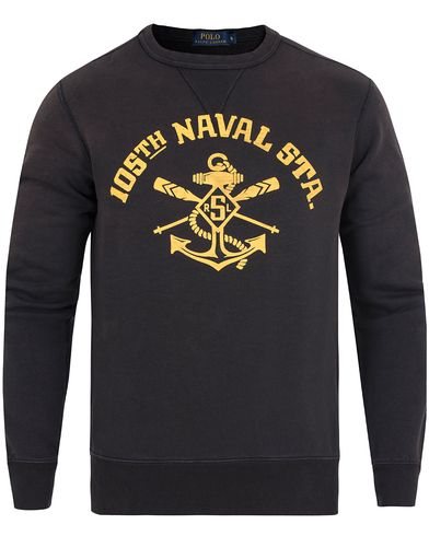 Polo Ralph Lauren Printed Sweatshirt Polo Black i gruppen Klær / Gensere / Sweatshirts hos Care of Carl (13184511r)