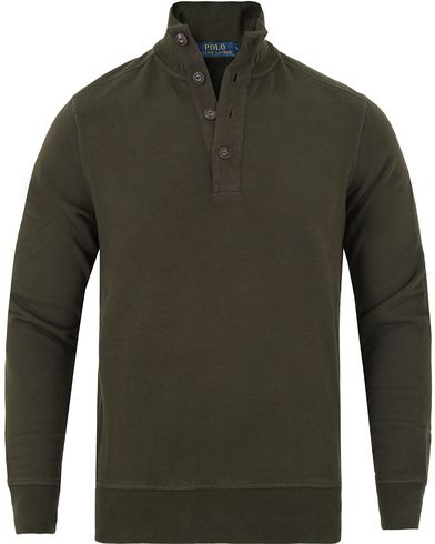 Polo Ralph Lauren Half Button Knitted Sweater Squadron Green i gruppen Klær / Gensere / Strikkede gensere hos Care of Carl (13184711r)