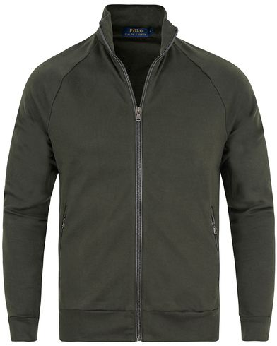 Polo Ralph Lauren Full Zip Track Jacket Squadron Green i gruppen Klær / Gensere / Zip-gensere hos Care of Carl (13184811r)
