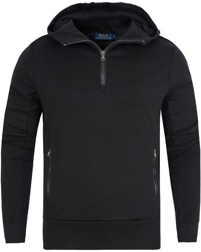 Polo Ralph Lauren Half Zip Hooded Sweater Polo Black i gruppen Klær / Gensere / Hettegensere hos Care of Carl (13184911r)